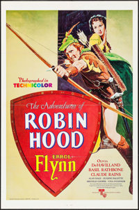 """The Adventures of Robin Hood (United Artists, R-1976). One Sheet (27"""" X 41""""). Swashbuckler"""