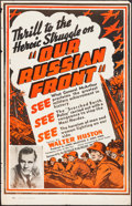 "Movie Posters:Documentary, Our Russian Front (Universal, 1942). One Sheet (27.5"" X 42.5""). Documentary.. ..."