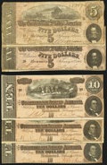 Confederate Notes:1864 Issues, 1864 Confederate Notes Five Examples.. ... (Total: 5 notes)