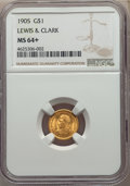 Commemorative Gold, 1905 G$1 Lewis and Clark Gold Dollar MS64+ NGC....