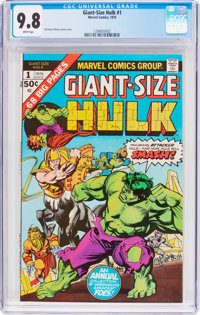 Giant-Size Hulk #1 (Marvel, 1975) CGC NM/MT 9.8 White pages