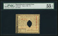 Colonial Notes:Massachusetts, Massachusetts May 5, 1780 $4 PMG About Uncirculated 55 EPQ.. ...
