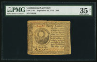 Continental Currency September 26, 1778 $30 PMG Choice Very Fine 35 Net
