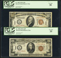 Small Size:World War II Emergency Notes, Fr. 2303 $10 1934A Hawaii Federal Reserve Note. PCGS Very Fine 30;.Fr. 2305 $20 1934A Hawaii Federal Reserve Note. PCGS V... (Total: 2notes)