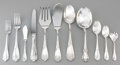 Silver & Vertu:Flatware, A Sixty-Five Piece Italian Silver Flatware Service, Padova, Italy, late 20th century. Marks: (boot), 925, Sterling, Italy... (Total: 65 Items)