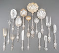 Silver Flatware, American:Whiting, A Twenty-Two Piece Whiting Lily Pattern Silver FlatwareServing Group, New York City, designed 1902. Marks: (W-g... (Total:22 Items)