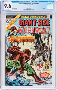 Giant-Size Werewolf By Night #5 (Marvel, 1975) CGC NM+ 9.6 White pages