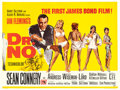 "Movie Posters:James Bond, Dr. No (United Artists, 1962). British Quad (30"" X 40"") Mitchell Hooks and David Chasman Artwork.. ..."