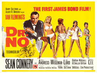 "Dr. No (United Artists, 1962). British Quad (30"" X 40"") Mitchell Hooks and David Chasman Artwork"