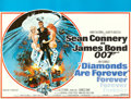 "Movie Posters:James Bond, Diamonds are Forever (United Artists, 1971). Full-Bleed British Quad (30"" X 40"") Robert McGinnis Artwork.. ..."