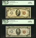 Small Size:World War II Emergency Notes, Fr. 2303 $10 1934A Hawaii Federal Reserve Note. PCGS Very Fine25PPQ;. Fr. 2305 $20 1934A Hawaii Federal Reserve Note. PCGS Ve...(Total: 2 notes)
