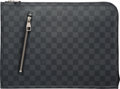 "Luxury Accessories:Bags, Louis Vuitton Damier Graphite Coated Canvas Poche Documents Holder.Condition: 2. 14.5"" Width x 10.5"" Height x 1"" Depth..."