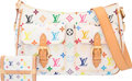 Luxury Accessories:Bags, Louis Vuitton Set of Two; White Monogram Multicolore Coate...