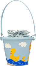 "Luxury Accessories:Bags, Moschino Light Blue Beach Pail Bag. Condition: 3. 7"" Height x8.5"" Circumference. ..."