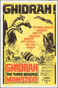 "Movie Posters:Science Fiction, Ghidrah, the Three-Headed Monster (Continental, 1965). One Sheet (27"" X 41""). Science Fiction.. ..."