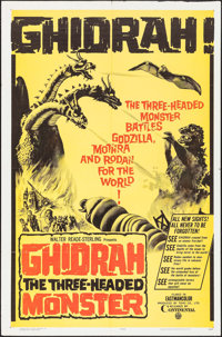 "Ghidrah, the Three-Headed Monster (Continental, 1965). One Sheet (27"" X 41""). Science Fiction"