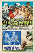 "Movie Posters:Serial, The Adventures of Sir Galahad (Columbia, 1949). Folded, Fine/Very Fine. One Sheet (27"" X 41"") Chapter 6 -- ""Passage of Peril..."