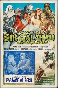 "The Adventures of Sir Galahad (Columbia, 1949). Folded, Fine/Very Fine. One Sheet (27"" X 41"") Chapter 6 -- &qu..."