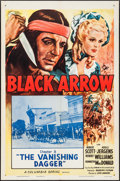 "Movie Posters:Serial, Black Arrow (Columbia, R-1955). One Sheets (2) (27"" X 41"") Chapters 4 & 8. Serial.. ... (Total: 2 Items)"