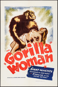 "Gorilla Woman (United Screen Associates, 1937). One Sheet (27"" X 41""). Exploitation"