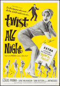 """Movie Posters:Rock and Roll, Twist All Night (American International, 1962). Autographed OneSheet (27"""" X 41""""). Rock and Roll.. ..."""