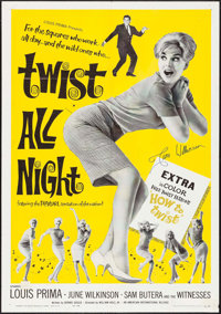 "Twist All Night (American International, 1962). Autographed One Sheet (27"" X 41""). Rock and Roll"