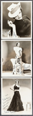 "Patricia Morison in The Magnificent Fraud (Paramount, 1939). Autographed Photos (3) (8"" X 10""). Drama. ... (To..."