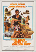 "Movie Posters:James Bond, The Man with the Golden Gun (United Artists, 1974). AutographedIndian One Sheet (27.5"" X 40.25""). James Bond.. ..."