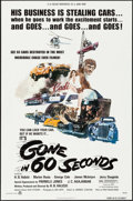 """Movie Posters:Action, Gone in 60 Seconds (H.B. Halicki International, 1974). One Sheet(27"""" X 41""""). Action.. ..."""