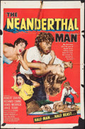 """Movie Posters:Horror, The Neanderthal Man (United Artists, 1953). Folded, Very Good+. One Sheet (27"""" X 41""""). Horror.. ..."""