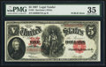 "Large Size:Legal Tender Notes, Fr. 91 $5 1907 ""PCBLIC"" Error Legal Tender PMG Choice Very Fine35.. ..."