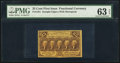 Fractional Currency:First Issue, Fr. 1281 25¢ First Issue PMG Choice Uncirculated 63 EPQ.. ...