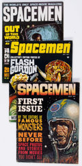 Magazines:Science-Fiction, Spacemen #1, 4, and 8 Group of 4 (Warren, 1961-64).... (Total: 4Comic Books)