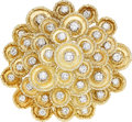 Estate Jewelry:Brooches - Pins, Diamond, Gold Pendant-Brooch, Hammerman Bros.. ...