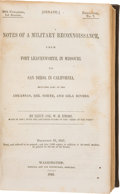 Books:Americana & American History, Lieut. Col. W. H. Emory. Notes of a Military Reconnaissance,...