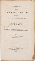 Books, James Wilmer Dallam. A Digest of the Laws of...