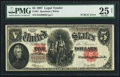 "Large Size:Legal Tender Notes, Fr. 91 $5 1907 ""PCBLIC"" Error Legal Tender PMG Very Fine 2..."