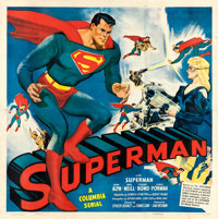 "Superman (Columbia, 1948). Six Sheet (79.5"" X 80.5"")"