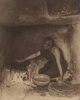 Edward Sheriff Curtis (American, 1868-1952) The Piki Maker, 1906 Orotone 14-1/4 x 11 inches (36.2 x 27.9 cm) Signed...