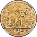German East Africa, German East Africa: German Colony. Wilhelm II gold 15 Rupien 1916-T AU53 NGC,...