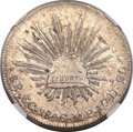Mexico, Mexico: Republic 8 Reales 1846 GC-MP AU Details (Surface Hairlines)NGC,...