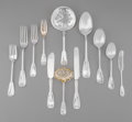 Silver Flatware, American:Tiffany, A Fifty-One Piece Tiffany & Co. Palm Pattern Flatware Group,New York City, designed 1871 by Edward C. Moore, manufactured c...(Total: 51 Items)