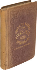 Books:Americana & American History, James Redpath and Richard Hinton. Hand-Book to the Kansas Territory and the Rocky Mountains' Gold Region... New York...