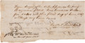 Autographs:Military Figures, [Old Three Hundred]. Bartlett Sims Autograph Document Signed....