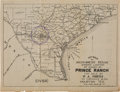 Books:Maps & Atlases, Key Map of Southwest Texas Showing Location of 40,000 AC Prince Ranch, Texas...