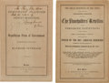 Miscellaneous:Booklets, Lorenzo Sherwood. Two Anti-Slavery Imprints. Two t...