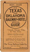 Books:Maps & Atlases, The Texas and Oklahoma Railway & Hotel Official Guide....