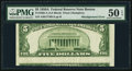 Error Notes:Skewed Reverse Printing, Fr. 1962-A $5 1950A Federal Reserve Note. PMG About Uncirculated 50EPQ.. ...