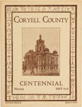 Miscellaneous:Brochures, Coryell County Centennial Brochure, 1854-1954....