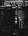 Photographs, Max Yavno (American, 1911-1985). Two Men on Storage Tanks, 1947. Gelatin silver, printed later. 19-3/8 x 15-1/2 inches (...